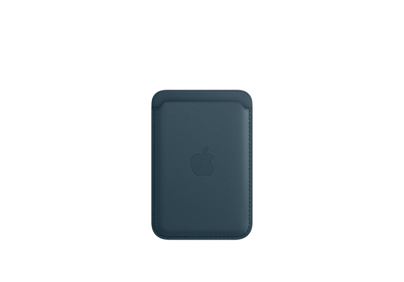 Apple iPhone Leather Wallet with MagSafe, Baltic Blue