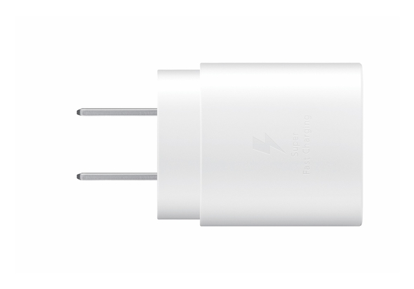 Samsung 25W USB-C Fast Charging Wall Charger, White,  White
