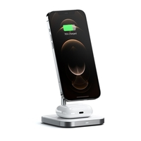 Satechi Aluminum 2-in-1 Magnetic Wireless Charging Stand