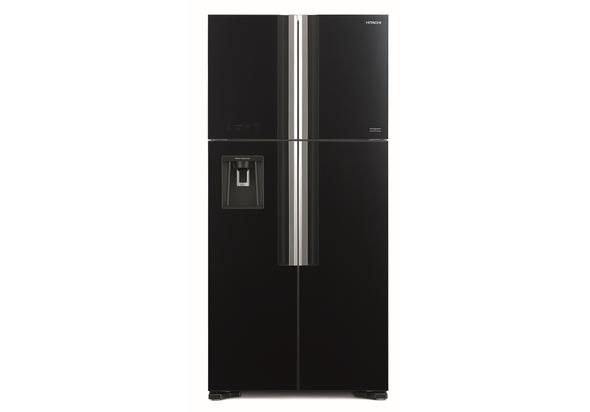 ثلاجة هيتاشي RW760PUK7GBK 760L بباب فرنسي ، أسود