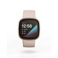 Fitbit Sense GPS Smartwatch,  Lunar White / Soft Gold Stainless Steel