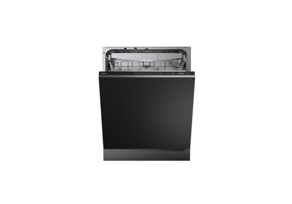 TEKA DFI 46950 ME, Fully integrated dishwasher A+ + with Dual Care program and Extra Drying function, Black