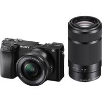 سوني الفا a6100 كاميرا رقمية بدون مرآة مع عدسة 16-50 مم و 55-210 مم