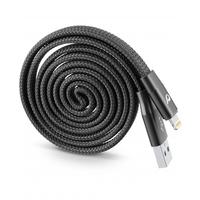 Cellularline Cavo USB Riavvolgibile MFI Cable, Black