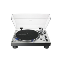 Audio Technica AT-LP140XP Direct-Drive Professional DJ Turntable, Silver