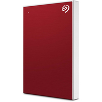 Seagate 2TB Backup Plus Slim USB 3.0 External Hard Drive, Red