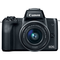 Canon EOS M50 Mirrorless Digital Camera with 15-45mm Lens, Black