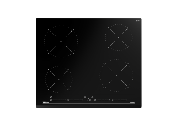 TEKA IZC 64010, 60cm Induction Hob with Direct Functions Multi Slider and 4 zones, Black Glass