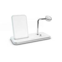 Zens Stand+ Dock+ Watch Aluminium Wireless Charger, White