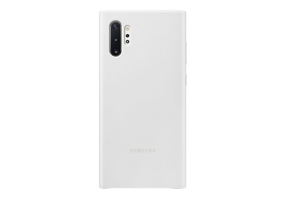 Samsung Galaxy Note 10+ Leather Cover, White,  White