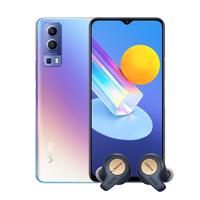 Vivo Y72 8GB, 128GB Smartphone 5G, Dream Glow with Jabra Elite Active 65t Alexa Enabled True Wireless Sports Earbuds, Copper Blue