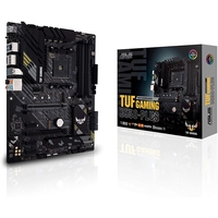 Asus AMD B550 (Ryzen AM4) ATX gaming motherboard with PCIe 4.0, dual M. 2, 10 DrMOS power stages, 2.5 Gb Ethernet, HDMI, DisplayPort, SATA 6 Gbps, USB 3.2 Gen 2 Type-A and Type-C, and Aura Sync RGB lighting support