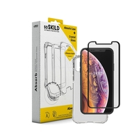 SoSkild Absorb Impact Case Transparent and Tempered Glass for iPhone X/Xs
