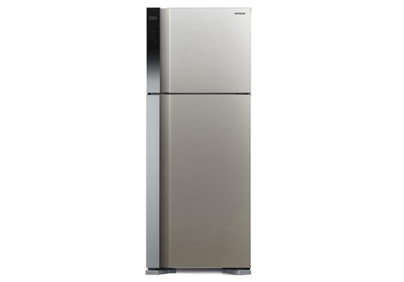 Hitachi RV650PUK7KBSL 650L Top Mount Refrigerator, Brilliant Silver