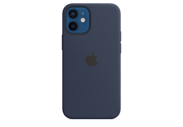 Apple iPhone 12 mini Silicone Case with MagSafe, Deep Navy