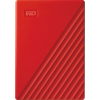 WD 2TB My Passport USB 3.2 Gen 1 External Hard Drive 2019, Red