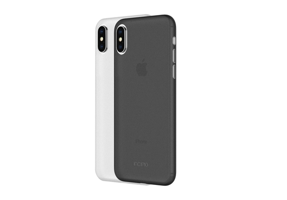 Incipio Feather Light Case 2 Pack for iPhone X, Frost/Smoke