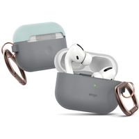 Elago EAPPDH-TRDG-LGMT AirPods Pro Case, Gray/Mint, Bottom-Dark Gray Translucent