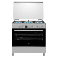 Teka 90x60 cm 5 Burners Gas with Electric Oven Cooking Range FS 901 5GE SS, Multifunction Electric Oven, Stainless steel