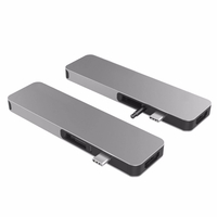 HyperDrive GN21D SOLO 7-in-1 USB-C Hub for MacBook, PC & Devices, Gray