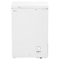 Hisense A+ Chest Freezer 130LTR, keep food for 135 Hours without power, Refrigerator convertible switching function, Easy to clean, Fast freeze, White