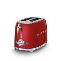 Smeg TSF01RDUK 2 Slice Toaster, Red