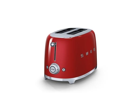 Smeg TSF01RDUK 2 Slice Toaster, Red