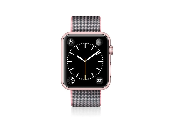 Casetify Nylon Fabric Apple Watch Band (42mm) , Solid Pink