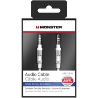 Monster Cable Data Cable for Smartphones 4ft, White Silver