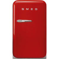 Smeg FAB5RRD Single Door Refrigerator, 33 L, Red