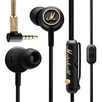 Marshall Audio Mode EQ In-Ear Headphones, Black and Brass
