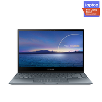 """Asus ZenBook Flip 13, Core i7-1165G7, 16GB RAM, 1TB SSD, 13.3"""" FHD OLED Touch Screen Laptop, Gray"""
