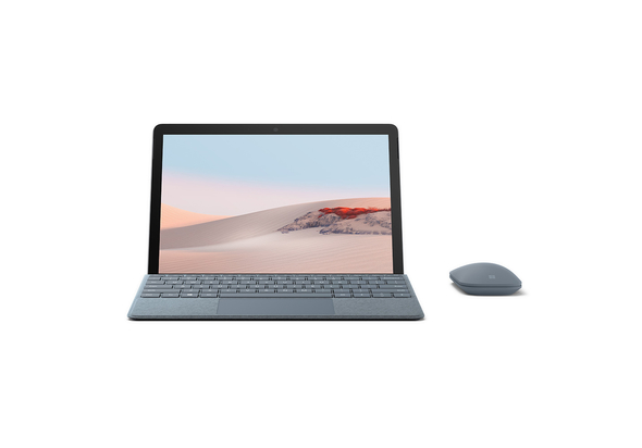 Microsoft Surface Go 2 8GB, 128GB 10.5  Tablet with Black Type Cover, Silver