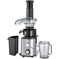 Black & Decker 800W 1.7L Stainles Steel XL Juicer Extractor with Juice Collector, Silver/Black - JE800-B5