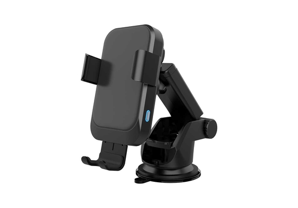 Powerology Fast Wireless Charger Car Mount 15W with Air Vent Mounting and QC3.0 Car Charger, Black