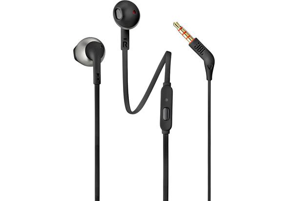 JBL T205 Earbud Headphones,  Black