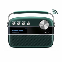 Saregama Carvaan 2.0 Portable Music Player 5000 Pre-Loaded Songs with Podcast, FM/BT/AUX,  Emerald Green