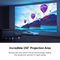 Vava 4K Ultra Short Throw Laser TV Projector, Black