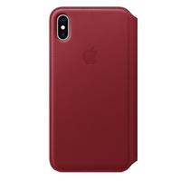 Apple iPhone XS Max Leather Folio Case,  Red