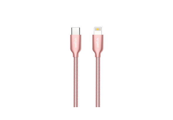 Switch Premium Metallic Type-C to Lightning Cable 1.2M, Rose Gold