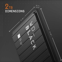 WD WDBA2W0020BBK-WESN 2TB Gaming Hard Drive, Black