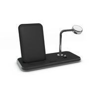 Zens Stand+ Dock+ Watch Aluminium Wireless Charger, Black