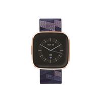 فيتبيت فيرسا 2  الساعة الذكية  لتتبع اللياقة , إصدار خاص,  Navy & Pink Woven/Copper Rose Aluminum