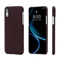Pitaka MagEZ Case for iPhone XR, Black/Red (Twill)
