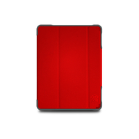 STM Dux Plus Duo Cover for iPad 7th gen 10.2, Red