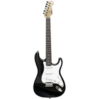 Fender 0370910506 Squier MM Stratocaster 6-String Electric Guitar with Maple Neck, Black
