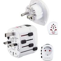 Hama HAM-128225 World PRO Plus USB, World Travel Adapter Plug, 3 Pins