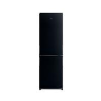 Hitachi RBG410PUK6GBK 410L French Bottom Freezer Refrigerator, Glass Black
