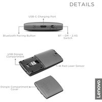 Lenovo GY50U59626 Yoga Mouse with Laser Presenter