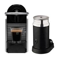 Nespresso Pixie C61 Titan+ Aeroccino Milk Frother Coffee Machine